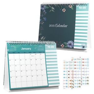 2021 Desk Flip Calendar A Year Of Daily Planner Full Year Calendar with Stickers