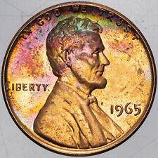 1965-P LINCOLN MEMORIAL CENT UNC UNIQUE COLORING BU SELECT TONED (MR)