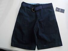 BOYS SIZE 14 CHAPS BRAND NAVY BLUE UNIFORM SHORTS WITH BELT NEW NWT #1278