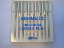 10 SCHMETZ SEWING MACHINE NEEDLES FITS 90/14 BERNINA BROTHER JANOME TOYOTA ELNA