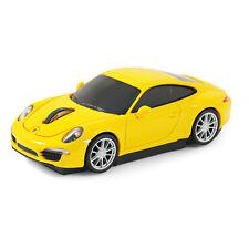 Souris sans fil laser forme voiture Porsche 911 (991) Carrera S jaune officiel