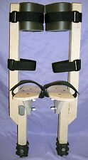 """Wood Circus Peg Stilts for Kids - 1 foot tall (12"""")- MADE IN USA"""