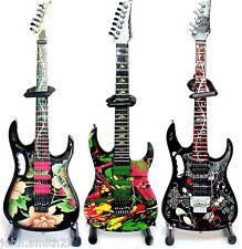 Miniature Guitar Steve Vai Set of 3 Floral, Flower, Swirl Universe Ibanez Jem
