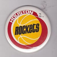 "VINTAGE 3 1/2"" PINBACK #D3-014 - BASKETBALL - HOUSTON ROCKETS"