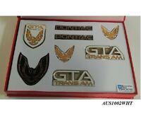 Trans Am GTA Emblem Kit: 87-90 White 8 Piece - Pontiac Firebird GTA
