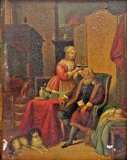 "Wonderful ""Old Master"" English School 17th/18th Century Oil Painting w/Dog, Bird"