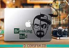 Breaking Bad Macbook Stickers on black vinyl | Laptop stickers | Breaking Bad