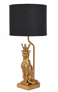 Table Desk Lamp Leopard Gold Black Bedside Lamp Panther Table Lamp Light