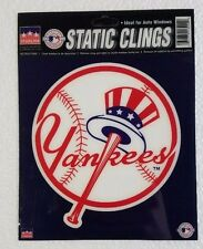 """New York Yankees 6"""" x 6"""" Static Cling Hat Logo Truck Car Auto Window Decal NEW"""
