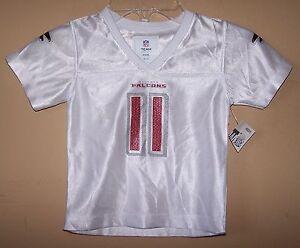 Girl's 18 Month 2T ATLANTA FALCONS White Glitter #11 JONES Football Jersey Shirt