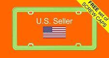 Apple Green Plastic License Plate Frame