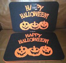 Happy Halloween Pumpkin Felt Place mat Set of 6