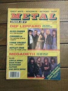 Creem Close Up Metal Magazine - March 1988 Megadeth Motley Crue Aerosmith Rush