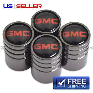 GMC VALVE STEM CAPS WHEEL TIRE BLACK - US SELLER VE56