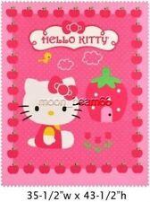 Sanrio Hello Kitty Huge Strawberry Cupcake Quilt Top Panel Cotton Fabri