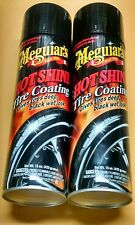 Meguiars Hot Shine High Gloss Tire Coating 15 oz. Aerosol Two Can Lot