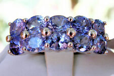 3.70cts Genuine AA Tanzanite 925 Sterling Silver Ring, Size 6