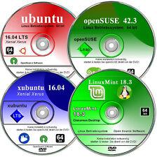ubuntu, xubuntu, Mint, OpenSUSE Betriebssysteme  DVD Paket 64 bit
