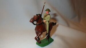 Vintage Calvary Army Military Soldier and Horse Painted Lead Toy Figures
