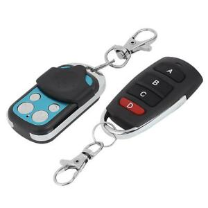 433 MHz Remote Control 4 Channel Cloning Key Fob for Garage Door Gate Universal