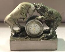 Linden Bull and Bear Quartz Clock