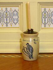 Jane Graber Stoneware Butter Churn w/Lid - IGMA Artisan Dollhouse Miniature