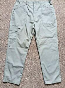 Chums Men's Khaki Cargo Trousers Multiple Pockets W40 L31 Zip Fly