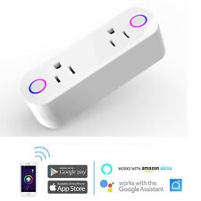 Smart Socket Wi-Fi Outlet Plug Switch Timer Remote Control For Alexa Google Home