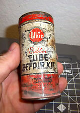 Whiz Rubber tire Tube Repair Kit Vintage Tin, very cool older collectible
