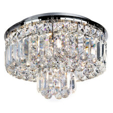 Searchlight 5 Light Chrome Crystal Ball Drops Modern Ceiling Pendant Chandelier