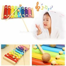 Kids Baby Wooden Piano Educational Xylophone Musical Instrument Glockenspiel Toy