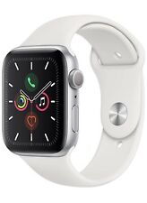 Apple Watch Series 5 GPS Sliver Aluminium Case with White Sport Band 44mm