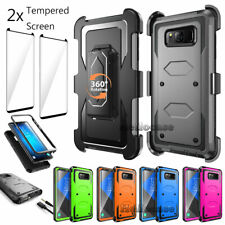 For Samsung Galaxy S8+ Plus Case Cover With Belt Clip Holster & Screen Protector
