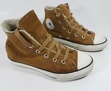 Converse brown suede leather hi top trainers junior 13 eu 31.5