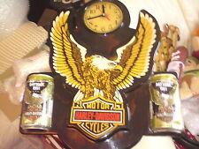 Harley-Davidson Clock American Bike Vintage daytona 1991 Classic, RARE ITEM.