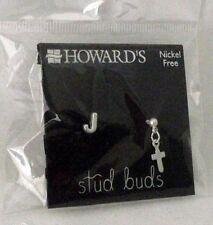Cross Jewelry Earrings Stud Buds Initial J Pierced Howards Nickel Free Small NEW