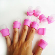 10 Pcs Nail Art Wearable Nail Soakers For Acrylic Nail Art Removal Manicure Tool