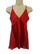 Victoria's Secret Red Sheer Babydoll Gown Nightie Lingerie Chemise Medium