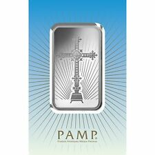 1~OUNCE ~ PURE .9999 SILVER ~ CROSS ~ PAMP SUISSE ~ SEALED  BAR ~ $9.99 ~AUCTION