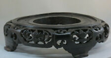 Chinese hand carved wood display base-19th cent-Diameter-41cm-Fits a vase 29cm