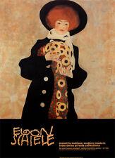 Egon Schiele Portrait of a Woman with a Black Hat Gerti Poster Kunstdruck Bild