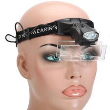 5 Lens 1-3.5X LED Light Lamp Loop Head Headband Magnifier Magnifying Glass Loupe