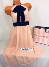 Victoria's Secret Pale Pink Black Bow High Neck Lounge Beach Cocktail Dress Sz 2