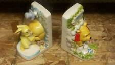 * RARE * VINTAGE * Walt Disney Winnie the Pooh and Rabbit Ceramic Bookends
