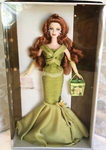 NEW Birthday Wishes Barbie Doll Redhead with Fancy Green Dress #C6230 NRFB