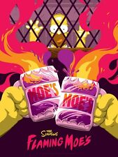"Not Mondo Poster Print The Simpsons ""Flaming Moe's"" variant"