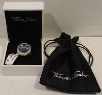 Thomas Sabo Damenring 925 Sterling Silber -Zirkonia weiss/Aquamarin Gr.54/17,2mm