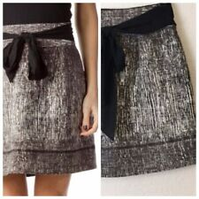 Club Monaco Lined bow skirt Black Gray Size 2