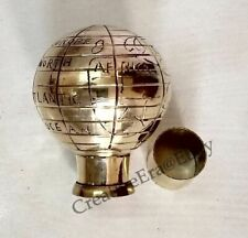 Brass Globe Head Handle for Walking Stick Canes Nautical Style Antique Gift