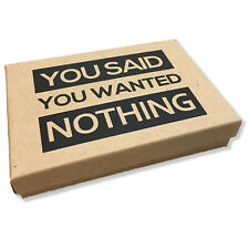 Deluxe Box of Nothing - Funny Gag Gifts for Men, Women, Teens, Stocking Stuffers